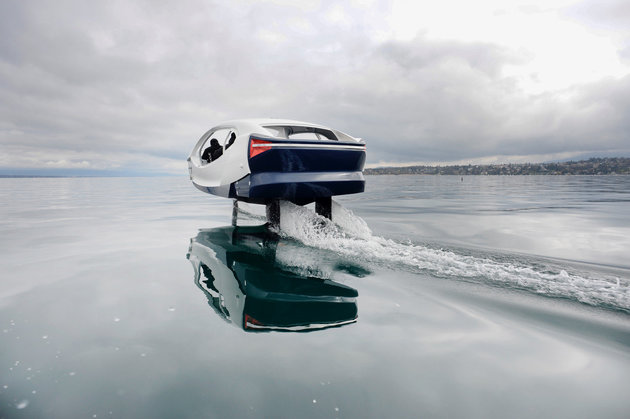 Seabubble (2eme version) essai sur le lac leman à Genève